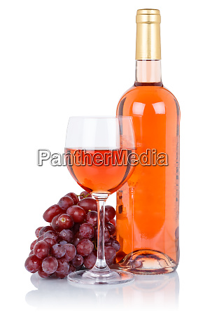 wine bottle glass alcohol beverage rose