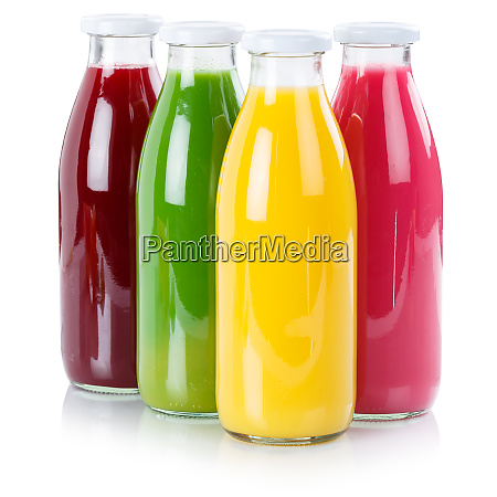 fruit juice in a bottle isolated