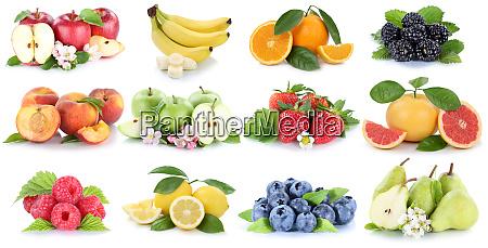 fruits fruit collection fresh orange apple