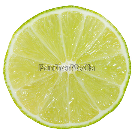 lime slice fruit sliced isolated on