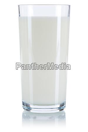 milchglas isoliert auf weiss