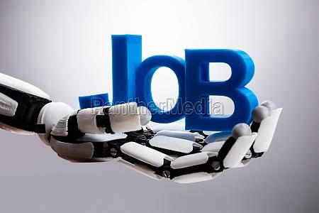 roboter halten job wort