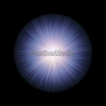 glowing orb with rays of light