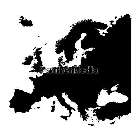 karte von europa silhouette design isolieren