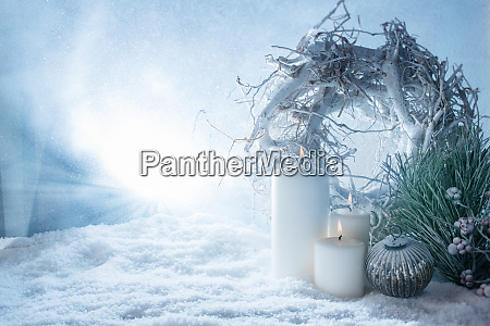 winter decoration in snow