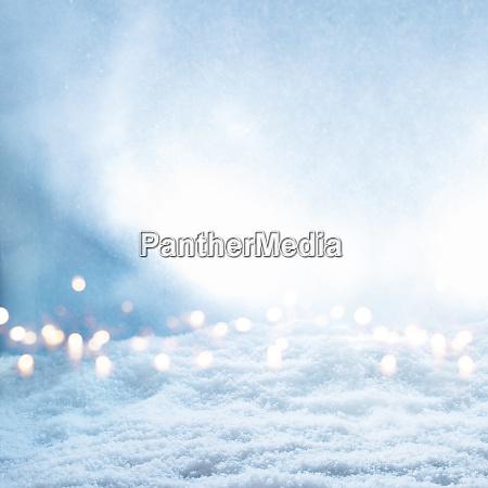 snow landscape with bright bokeh