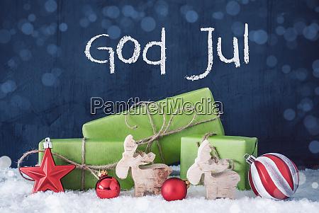 gruene weihnachtsgeschenke schnee gott jul bedeutet