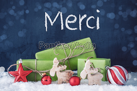 green christmas gifts snow merci means