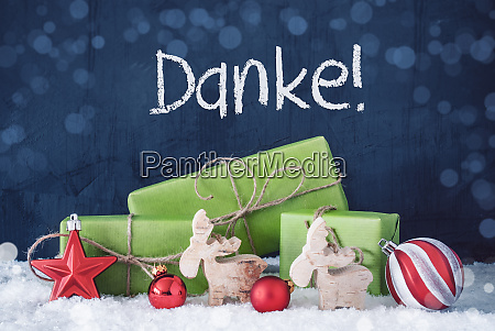 green christmas gifts snow danke means