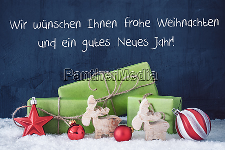 green christmas gifts snow gutes neues