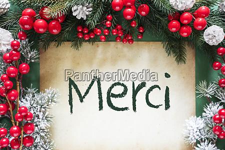 christmas decoration like fir tree branch