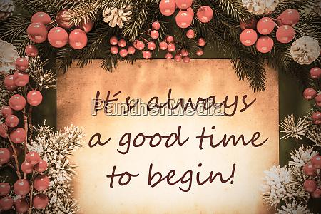retro weihnachtsdekoration fichtenzweig fir tree quote