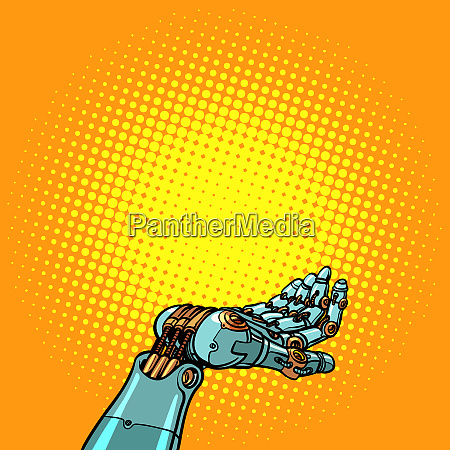 geste der handpraesentation von robotern
