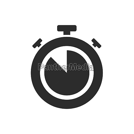 isolated stopwatch icon five to on