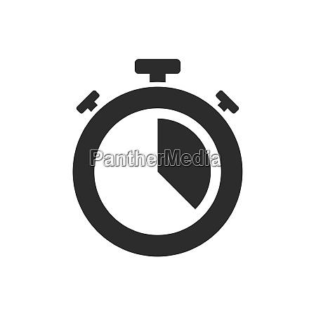 isolated stopwatch icon twenty past on