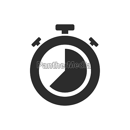 isolated stopwatch icon twenty five to