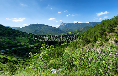 mountain landscape in the drome in