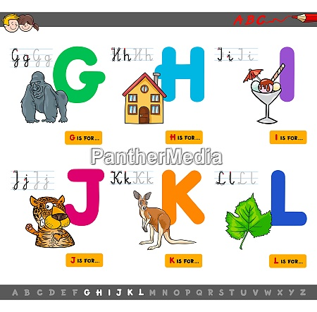 educational cartoon alphabet with animals