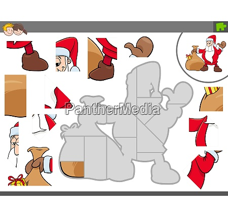 jigsaw puzzle game with santa claus