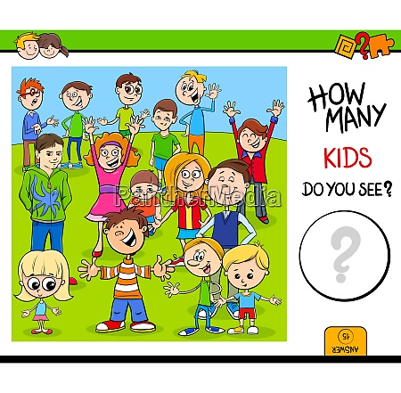 counting children characters educational game for