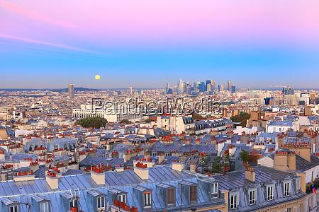sonnenaufgang in paris frankreich