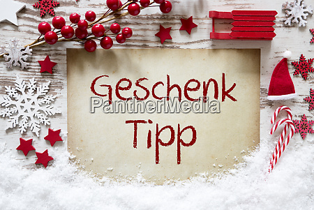 red christmas decoration snow geschenk tipp
