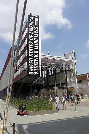 usa pavillon auf der expo weltausstellung