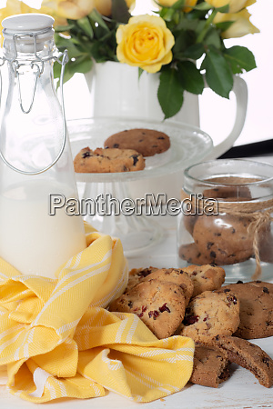 cookies on the white wooden table