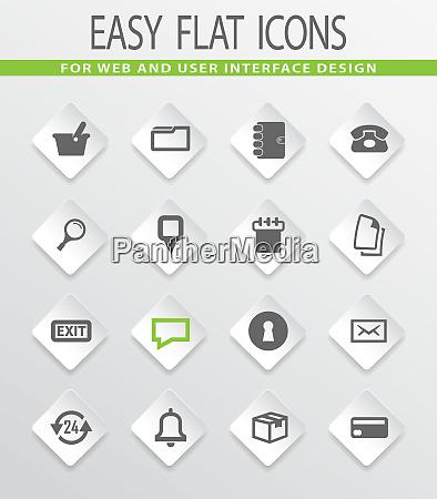 e commerce interface icons setzen