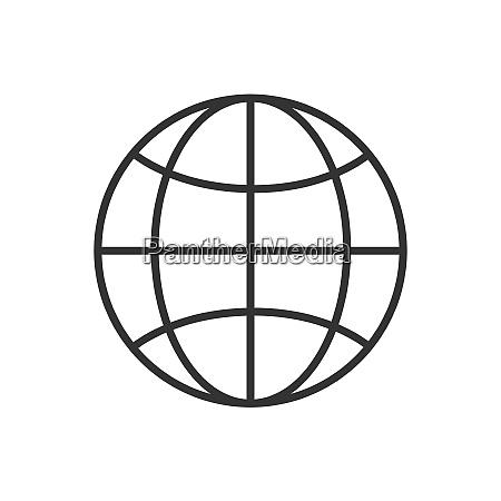 world line icon on a white