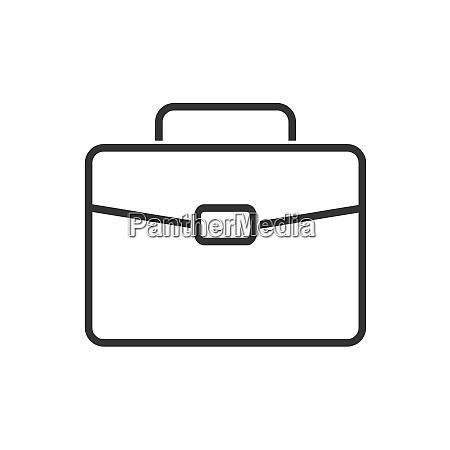 briefcase line icon on a white