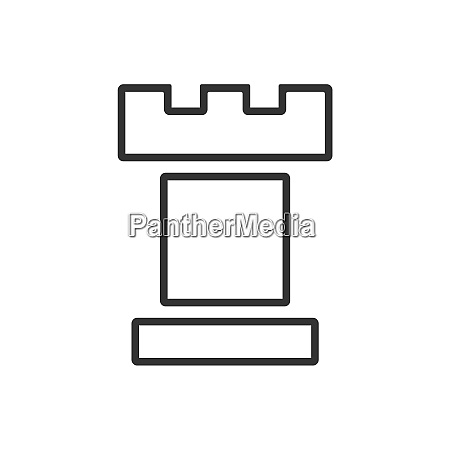 tower line icon on a white