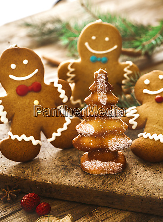 gingerbread man in christmas decor
