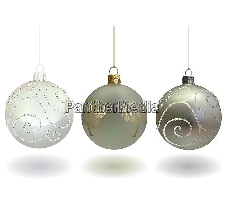 white christmas ball set