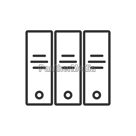 archive line icon on a white