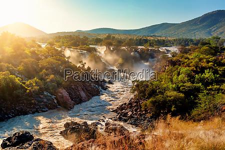 epupa falls am kunene river in