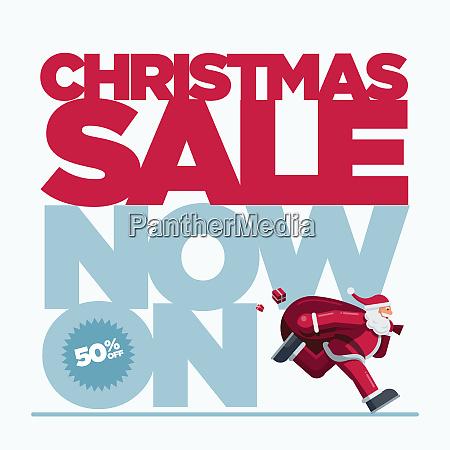 christmas sale concept design banner