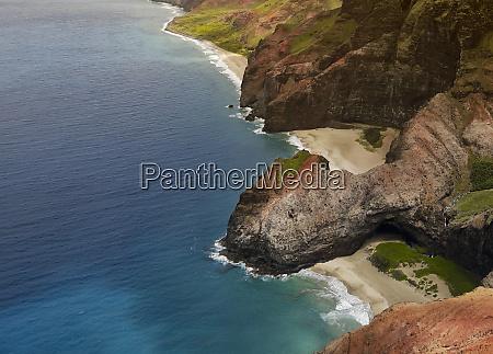 aerial views of kauais na pali