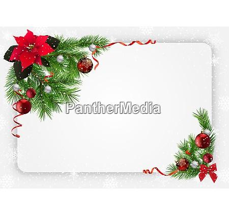 weihnachtsfest mit dekorationen