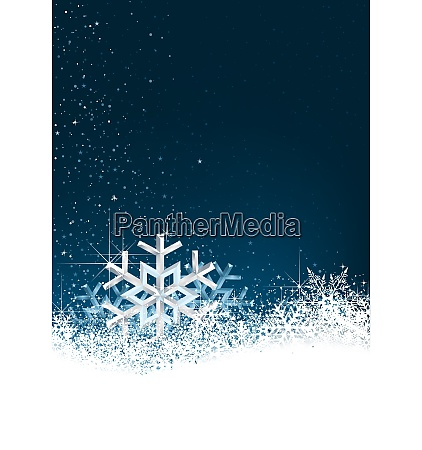 background with snow crystals