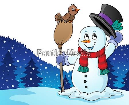 winter snowman subject image 4