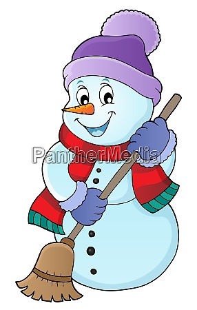 winter snowman subject image 5