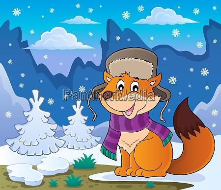 winter fox theme image 2