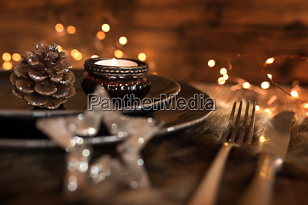 festive table setting for a christmas