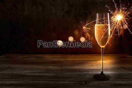 champagner fuer ein neues jahr