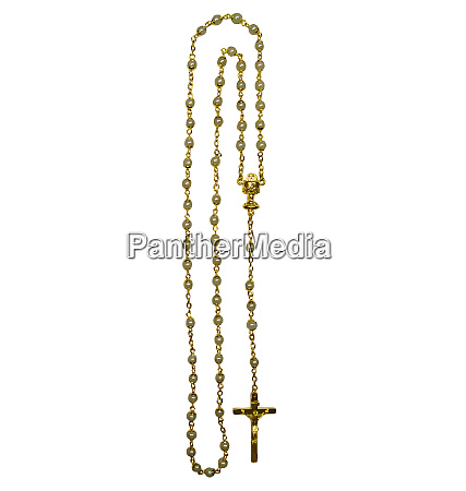 rosary crucifix tradition pray devotion golden