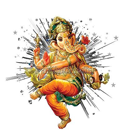 ganesha hindu elefantenfuerst glaube mythologie segne