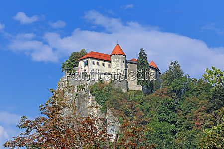 famous bled castle in slovenia in
