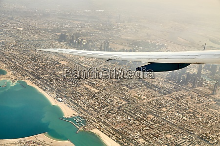 dubai view from air