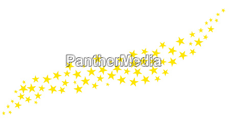 glitter of yellow stars